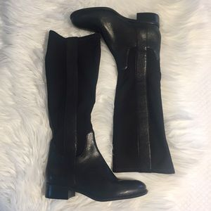 "Nine West ""JOESMO"" Black Stretch Riding Boots NWOB"